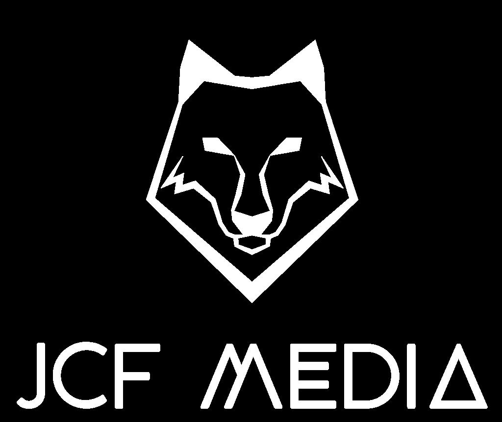 JCF Media White Logo
