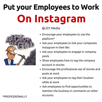 Put your Employees to Work!