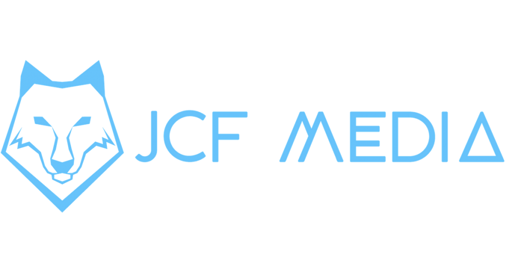 JCF Media Blue Sideways Logo